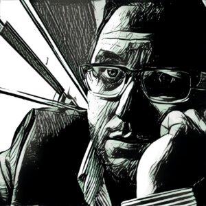 Unser Reporter Sam Krebsler, gezeichnet von Patrick Hahn
